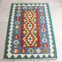 カシュカイ族の手織りキリム/ウール100%・シラーズ96×64cm玄関マットサイズ