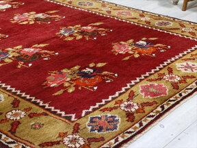 オールドカーペット・チャナッカレトルコ絨毯/カリヨラ245×160cm花束のモチーフ