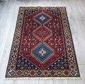 トライバルラグ・部族絨毯/イラン南部ヤラメYaramehセッジャーデ162×98cmリビングサイズ/細かな爪を持つ3つのドラゴンモチーフ