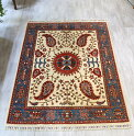 トルコ絨毯・スザンニのアンティークデザイン202×145cmウール100%手織り/工芸品カーペット