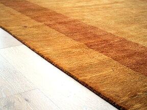 ギャッベ/ギャベ・カシュカイ族の手織りラグ・Banafsheh/バナフシェ・大型ルームサイズ348x255cmイエローオレンジのツートーン・動物と生命の樹