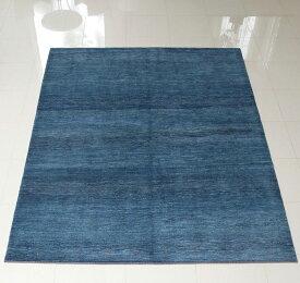 ギャッベ ギャベ イラン直輸入 カシュカイ族の手織りラグ・Banafsheh/バナフシェ・大型ルームサイズ338x257cm ブルー グラデーション