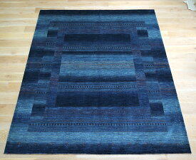 ギャッベ・ロリアタシュ LoriAtash・最高級の細かな織り・大型ルームサイズ288x253cm ブルーグラデーション・カラフルドット・生命の樹
