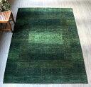 ギャッベ・イラン直輸入 ギャベ カシュカイ族の手織りラグ235x172cm 最高級の織りLoriAtashロリアタシュ リビングサイズ グリーン …