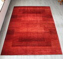 ギャッベ ギャベ ロリアタシュ LoriAtash・最高級の細かな織り・大型ルームサイズ288x207cm レッド・スクエアデザイン スクエア 植…