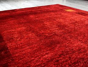 ギャッベロリアタシュ・細かな織りの最高級ギャッベGabbehLoriAtash/センターラグサイズレッドグラデーション195x160cmレッド&イエローグラデーション