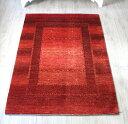 ギャッベ ギャベ カシュカイ族の手織りラグ・センターラグサイズ175x122cm レッド