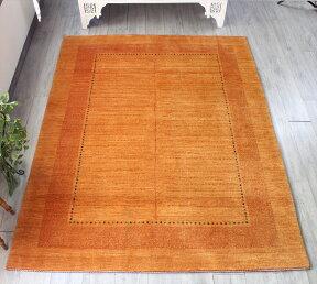 ギャッベ・直輸入バナフシェBanafshehリビングサイズ231x176cmオレンジスクエアデザイン生命の樹