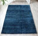 ギャベ ノマド/Nomad センターラグサイズ192x135cm ブルー&ネイビーグラデーション