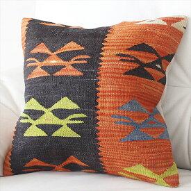 オールドキリムクッションカバー40cm Turkish Kilim Cushion トルコのウール手織りキリム鳥のモチーフ