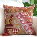 オールドキリムクッションカバー40cmTurkishKilimCushionトルコのウール手織りキリムカイセリ・チフカナット/ドラゴンの爪