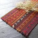 イランの古いテント布・ガジャリキリム168cm×38cmオールドキリム/フラグメント