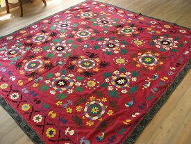 スザンニ SUZANI刺繍 オールド・228×219cmカラフルな花々