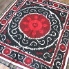 Uzbekistan Suzanne ( Susan ) red and Black Sun / Samarkand