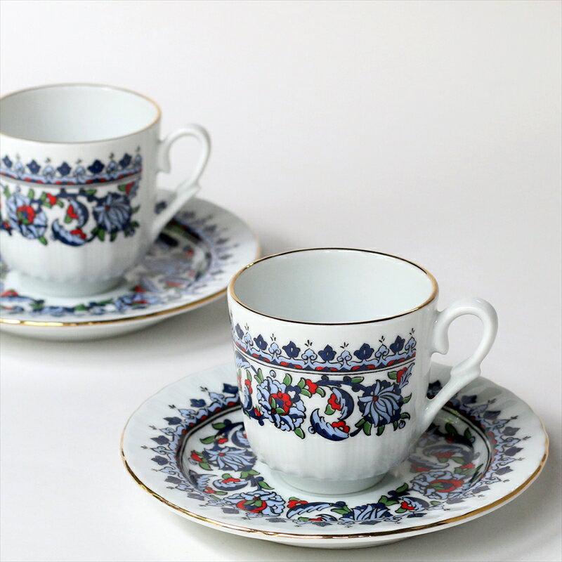 エスプレッソ・デミタスコーヒーカップ&ソーサー珍しい小さめ椀皿トルココーヒー用 2客セット クラシック