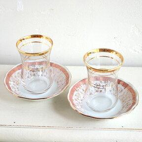 チャイグラス(チャイバルダック)2客セット/CayBaldagトルコお土産