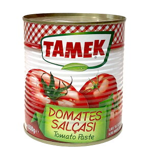 トマトペースト・トルコ/タメック社 830g缶Domates Salcasi ドマテスサルチャス輸入食材/トルコお土産
