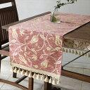 テーブルランナー/ベッドスロー・肌触りのよいシュニール素材ラーレ07・ローズ