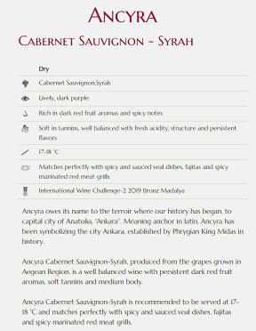 トルコワイン赤ワインアンシラ・カベルネソーヴィニヨン-シラーカワクルデレAncyraKavaklidere,Turkishwine,redwine
