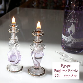 エジプト製クレオパトラ香水瓶12cmサイズ3本セット