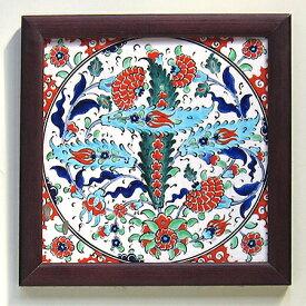 手書き陶器のタイル・1枚額オットマンクラシック