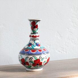 キュタフヤ陶器・トルコ水差し 高さ12cm手書き絵付け・オットマンフラワー