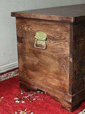 アンティークスタイル・トルコの宝箱サンドゥック・黒海地方の伝統様式W93×H54×D50cm