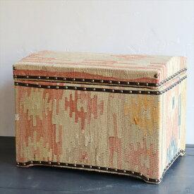 オールドキリム木製家具・宝箱Lサイズ・シワス W46×H34×D34cm