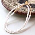 ガーナ・オールドビーズホワイト大一連約55センチハンドメイドアフリカントレードビーズAfricantradeglassbeads,GAHANA
