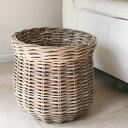 ラタン・バスケット/鉢カバー10号 プランターカバーグレーっぽいアンティークテイストの籐かご