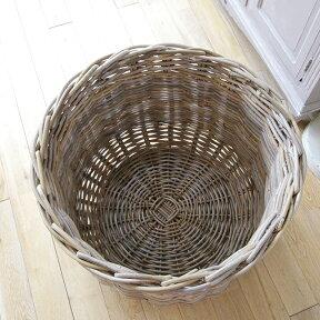 ラタン・バスケット/鉢カバー10号プランターカバーグレーっぽいアンティークテイストの籐かご