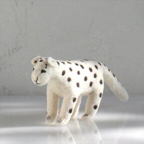 フェルトのぬいぐるみ・ユキヒョウ・Mサイズ/キルギス製KyrgyzstanFeltanimal・Panther/Msize