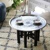 阿那托利亚家具铜的托盘、圆盘直径49cm/手制、手雕刻Turkish Nomadic round tray,Moroccan tray table,Hand made