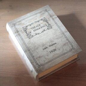ブックボックス/小物入れ/インテリア/洋書デザイン/ギフト/アンティークTheageofinnocence/EdithWharton1920