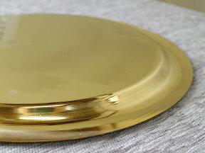 エジプト・真鍮製のトレー/アラベスク模様・ゴールド直径30cm・丸盆/イスラミックな幾何学デザイン