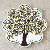 鍋敷きトルコ陶器タイルレモンの樹