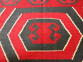 コンヤ・草木染キリム/トルコキリム・カリヨラ219×155cm博物館ピースリプロダクション・ユンジュ