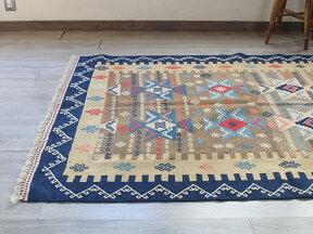トルコ手織りキリム・ウシャクセッヂャーデ180×127cmS字のジジムとベレケット