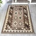 カシュカイ族の手織りキリム/センターラグ163×107cm染めていないナチュラルカラー