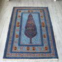 シルジャン・バルーチスマックキリム/134×88cmブルー/大きな樹のモチーフ