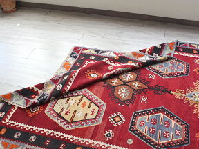 オールドキリム・シワスシャルキュスラ/ケッレ250×165cm6つの六角メダリオン