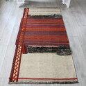 バクティアリ族のキャメルバッグ・オールドキリム208×94cmワイルドなグレーのパイル織り