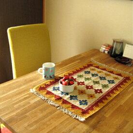 キリム ウール100%手織りキリム/南イラン・カシュカイ族 Hand Weaven Kilims滑り止め付テーブルサイズ送料無料