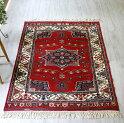 トルコの手織りのじゅうたん・ウール100%の新しいカーペット・ラグ/イズミル・アンティーク・リプロダクション161×119cm星とドラゴン/TurkishHandweavenCarpet