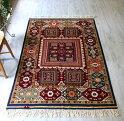 トルコの手織りのじゅうたん・ウール100%の新しいカーペット・ラグ/西アナトリア・アンティーク・リプロダクション176×121cm/TurkishHandweavenCarpet