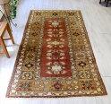 オールドカーペット・ミラス・トルコ手織り絨毯220×125cmレンガ色