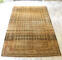エリアラグ・トルコ絨毯オールドカーペットカリヨラ215×134cm色褪せたグレーベージュ