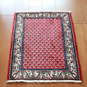 ペルシャ絨毯部族絨毯サルーク72×59cmボテ(ペイズリー)モチーフ・レッド