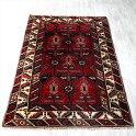 トライバルラグ・エリアラグ・ドゥシュメアルトゥ179×119cmドラゴンのモチーフと幾何学模様トルコ手織り絨毯