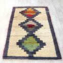 オールドカーペット・コンヤトルコ手織り絨毯154×98cm3つのカラフルメダリオン